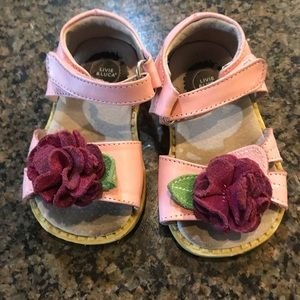 Livie & Luca Pink Toddler Sz 4 Sandals